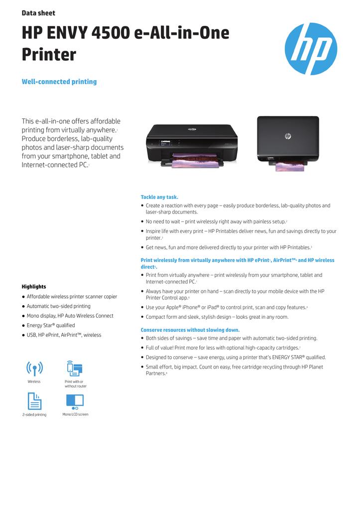 HP ENVY 4507 e-AiO | manualzz com