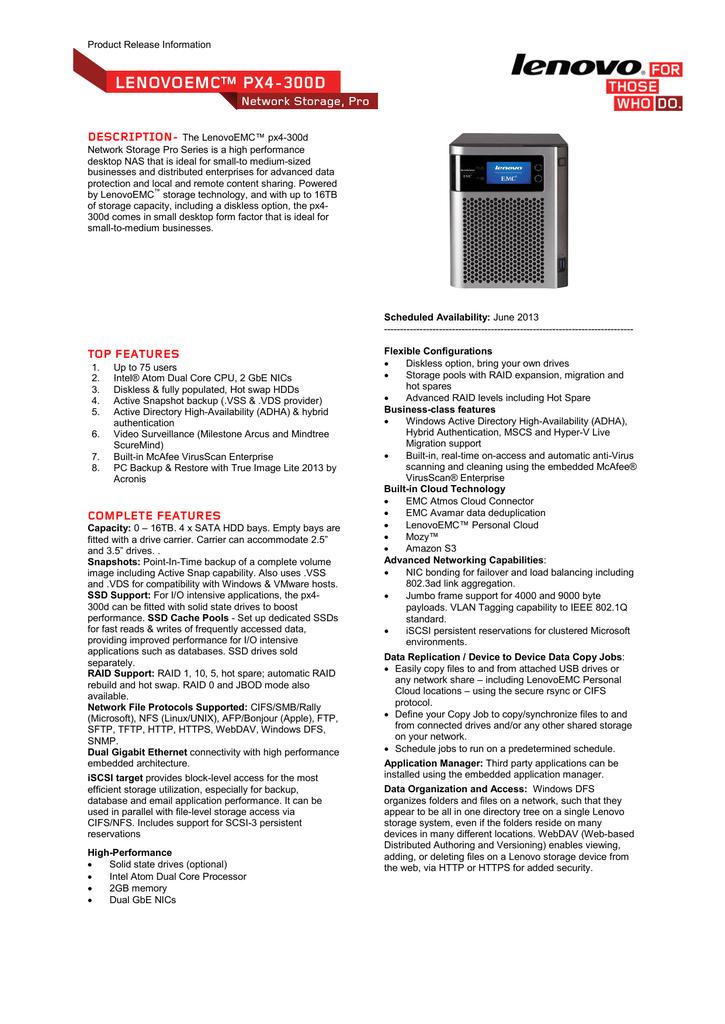 Lenovo px4-300d | manualzz com
