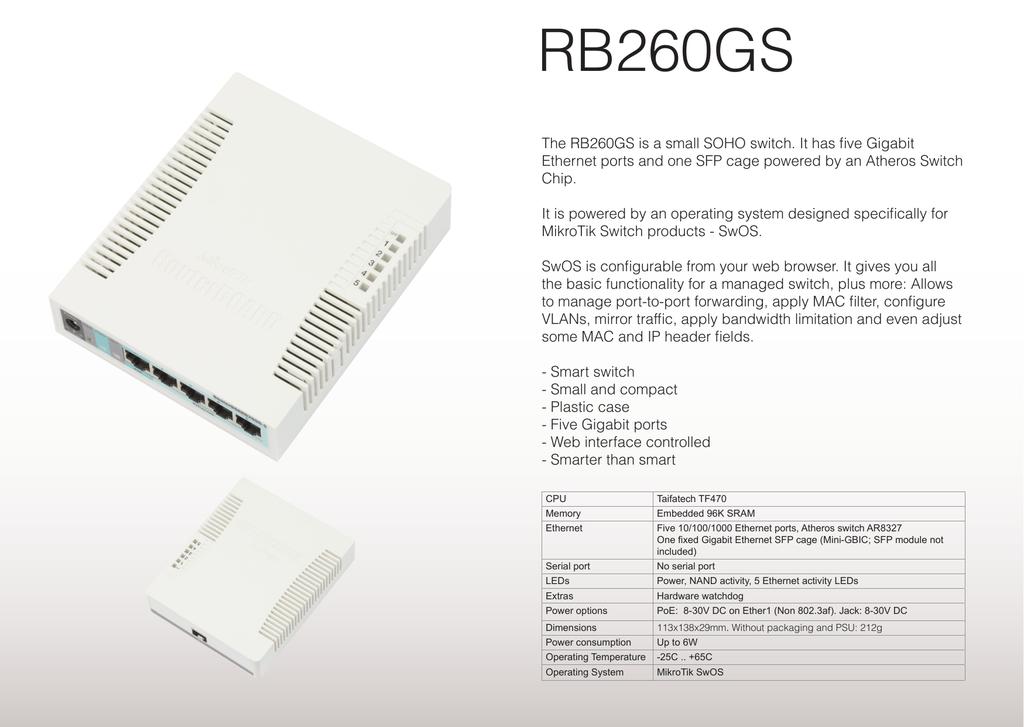 Mikrotik RB260GS network switch   manualzz com