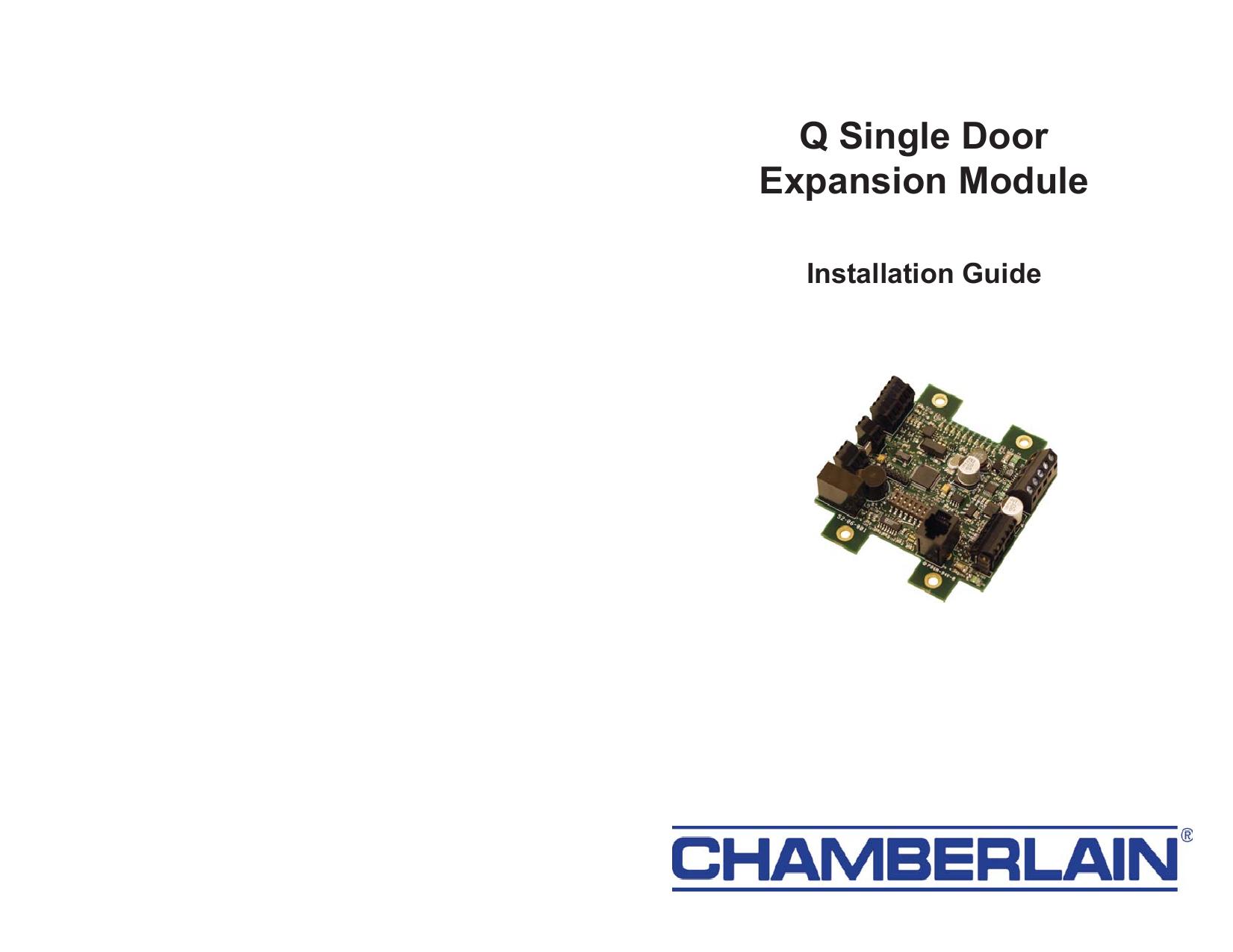 Q Single Door Expansion Module - LiftMaster | manualzz com