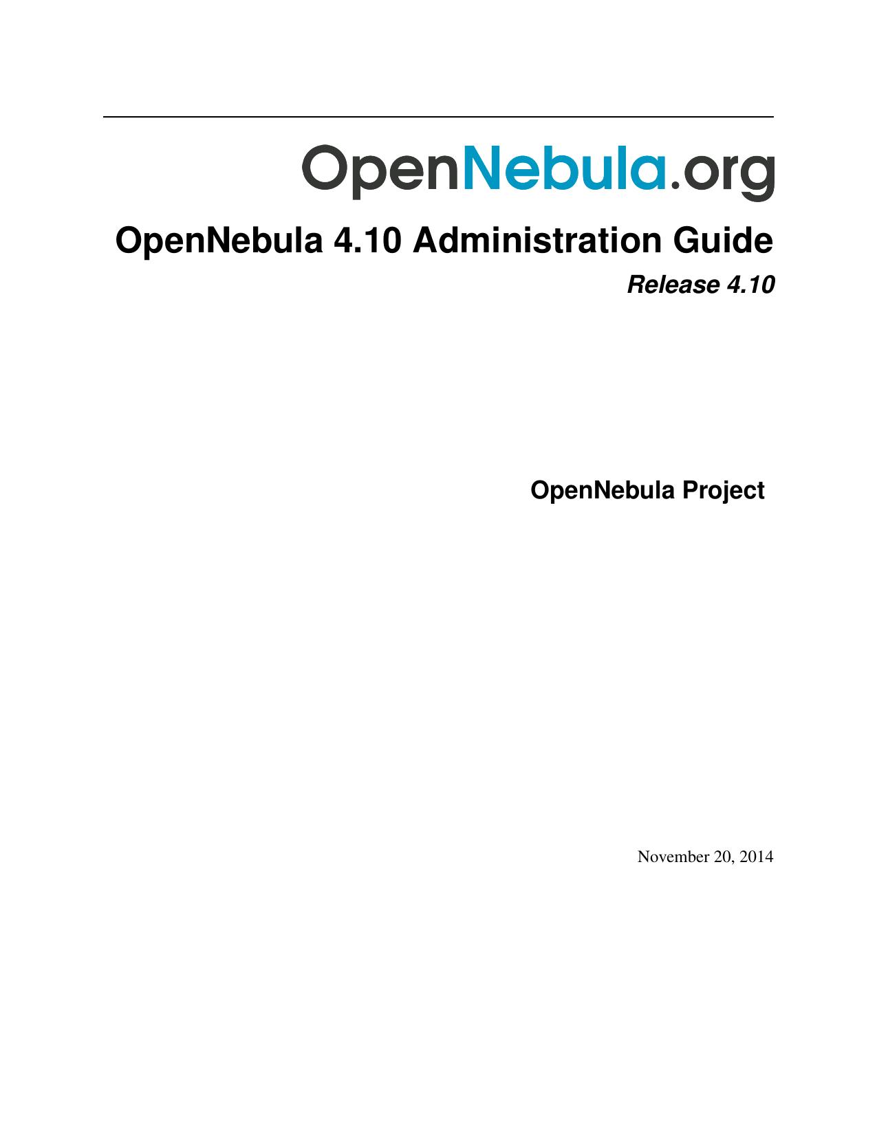 OpenNebula 4 10 Administration Guide   manualzz com