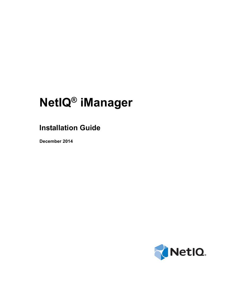 NetIQ iManager Installation Guide | manualzz com