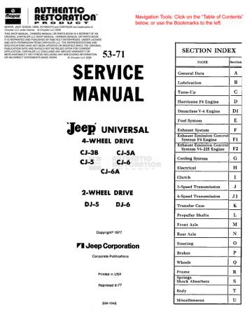 53-71 Jeep CJ & DJ SM.pdf | Manualzz