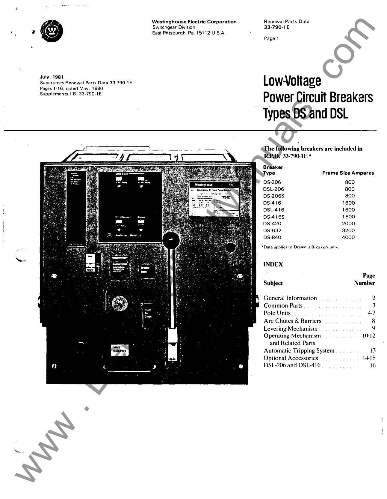 WESTINGHOUSE 600VAC 2000A DSL LIMITER 140D316G12