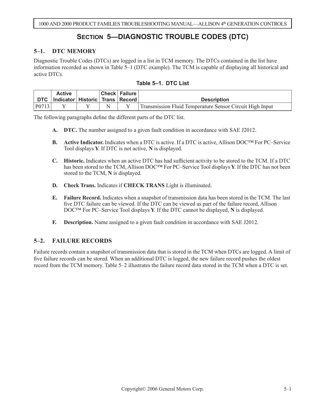 SECTION 5—DIAGNOSTIC TROUBLE CODES (DTC) | manualzz com