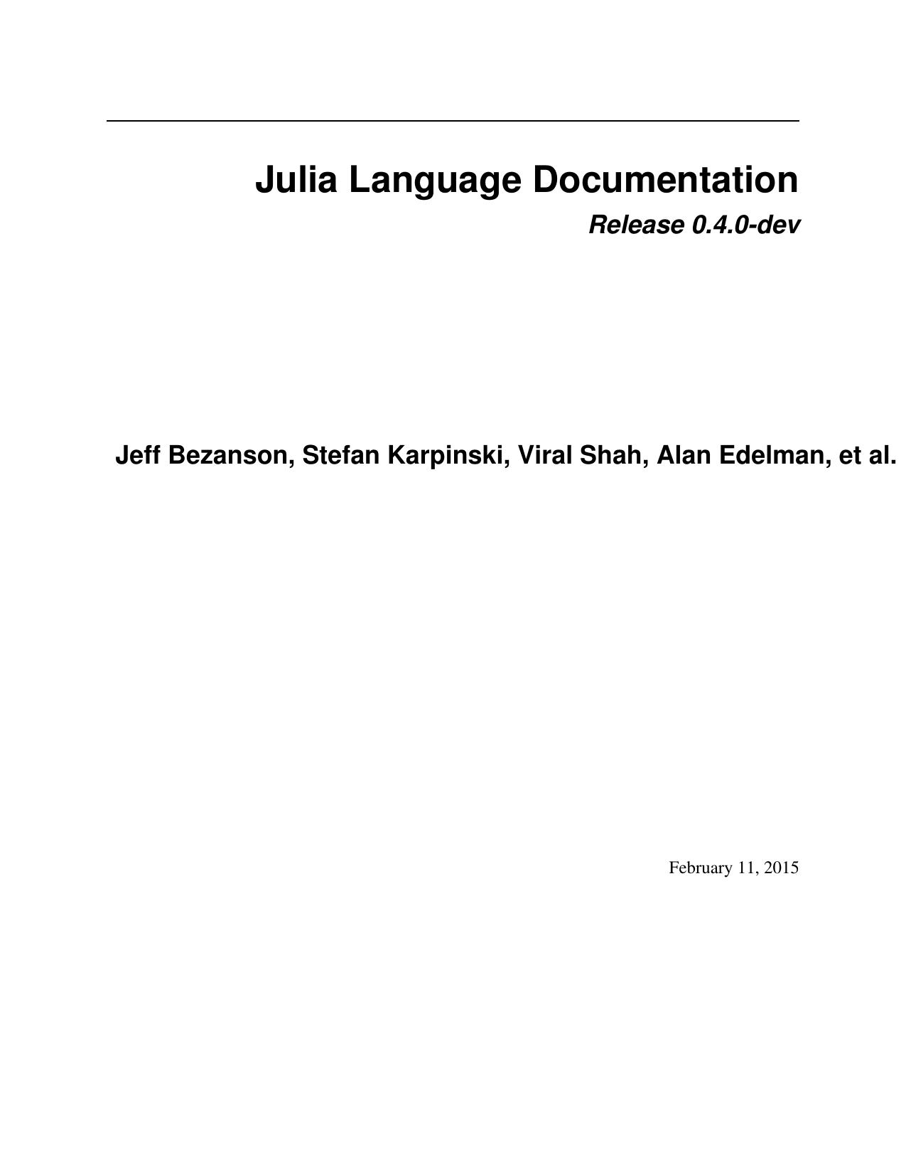 Julia Language Documentation   manualzz com