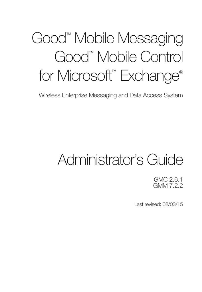 GoodAdmin Guide - Good Technology | manualzz com