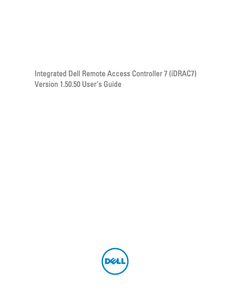 Integrated Dell Remote Access Controller 7 (iDRAC7 | manualzz com
