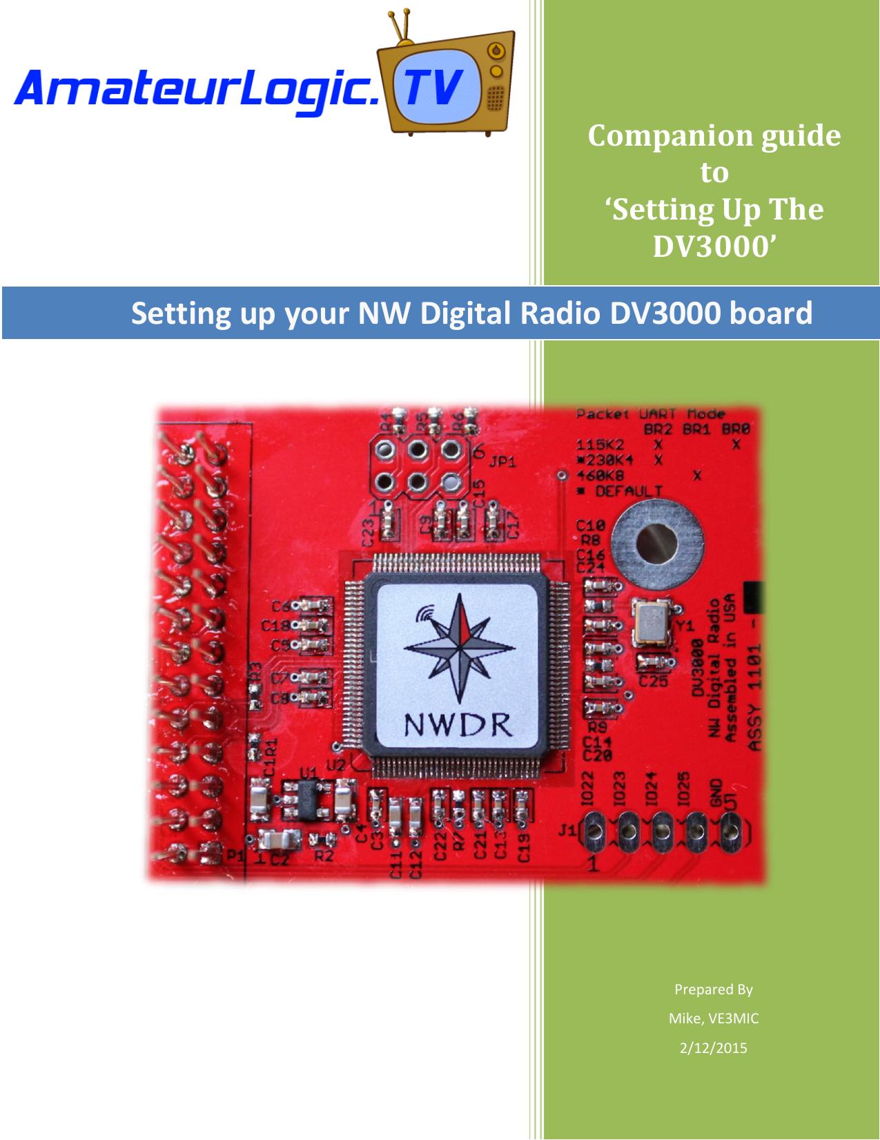 Setting up your NW Digital Radio DV3000 board   manualzz com