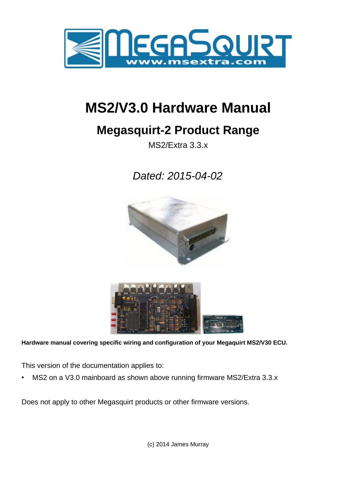 MS Extra MS2/V3 0 Hardware Manual | manualzz com