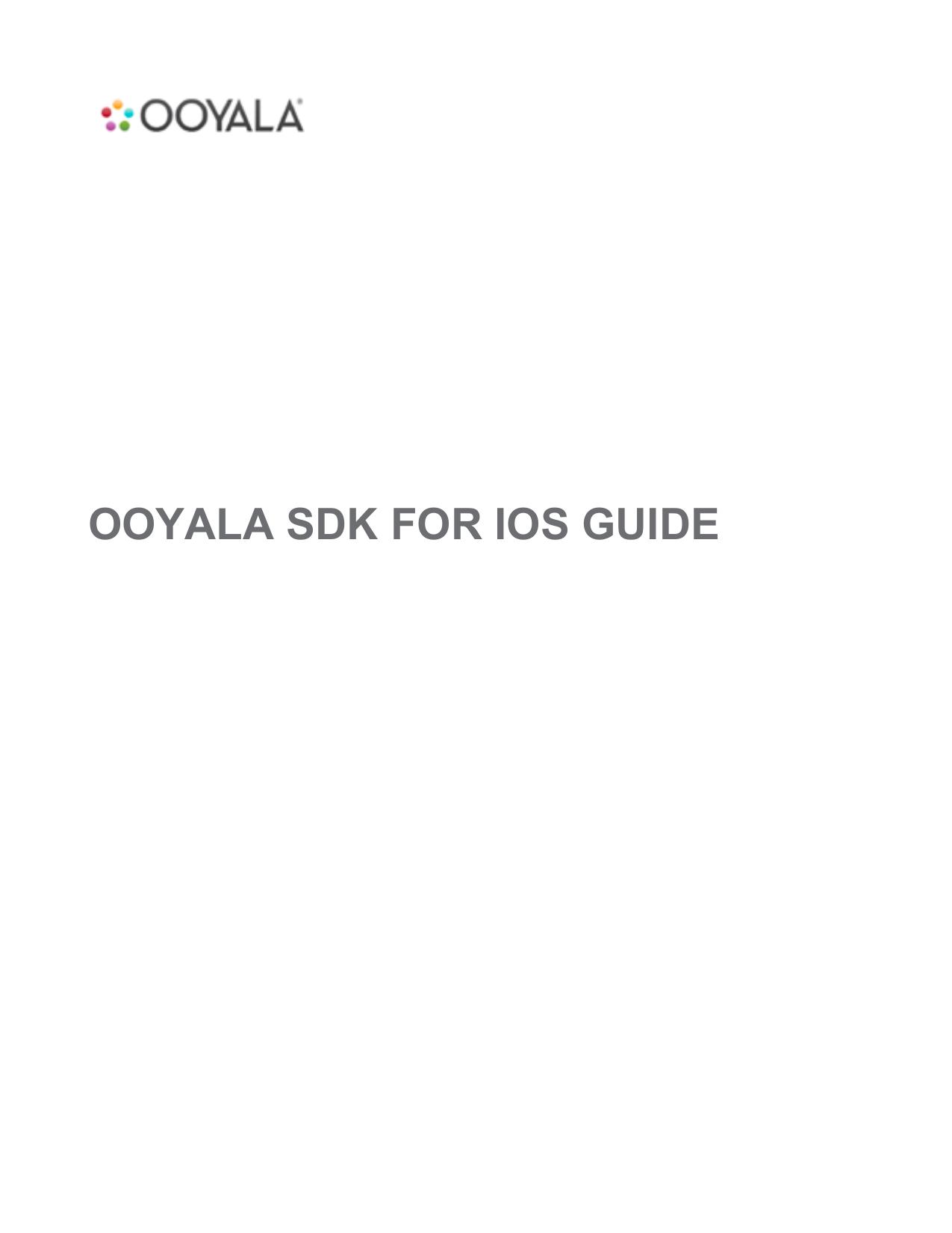 Ooyala SDK for iOS Developer Guide | manualzz com