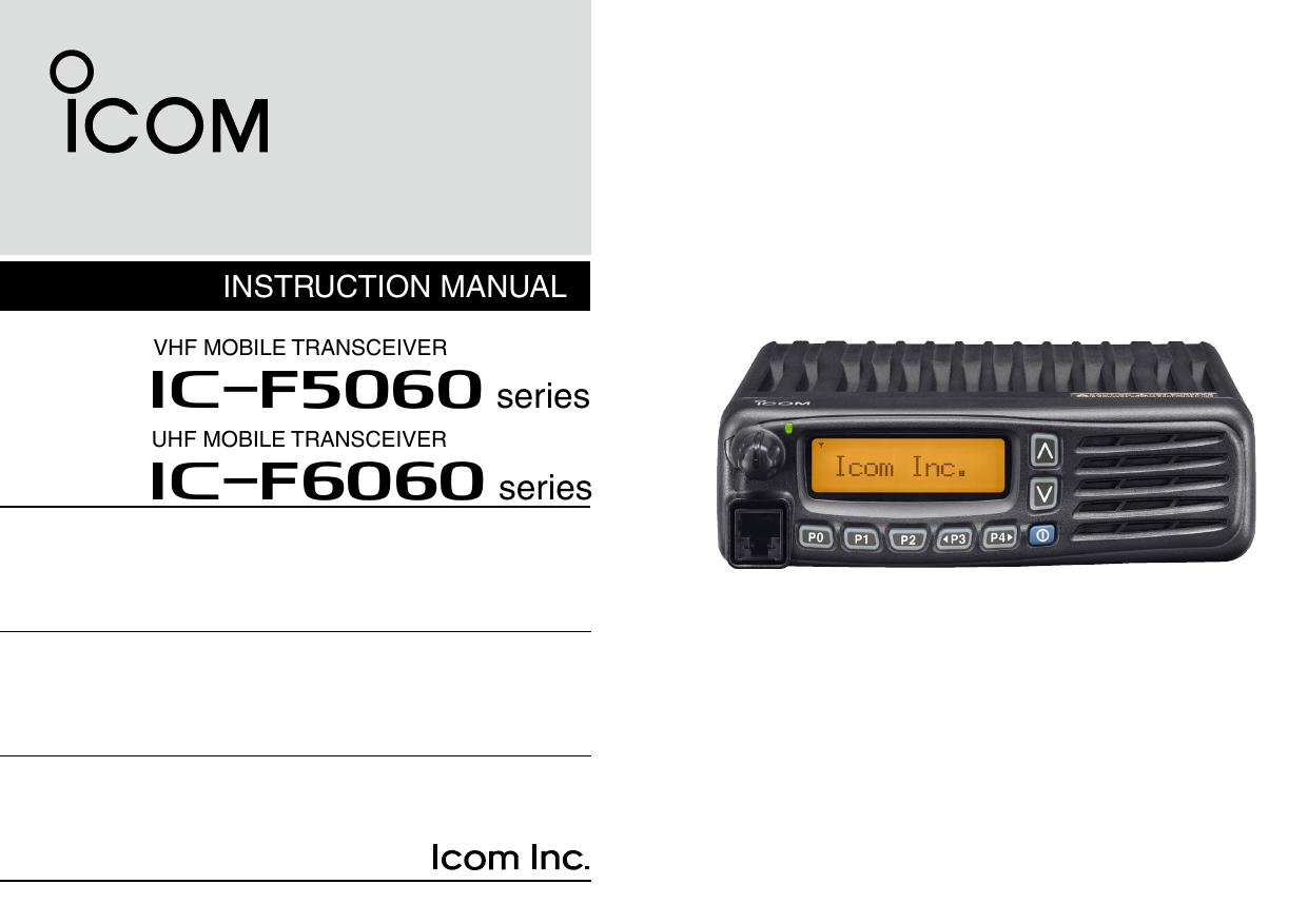 IC-F5061/D, IC-F5063, IC-F6061/D, IC-F6061D-L, IC | manualzz com
