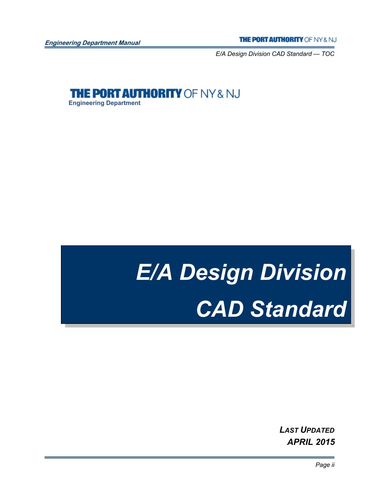 E/A Design Division CAD Standard   manualzz com