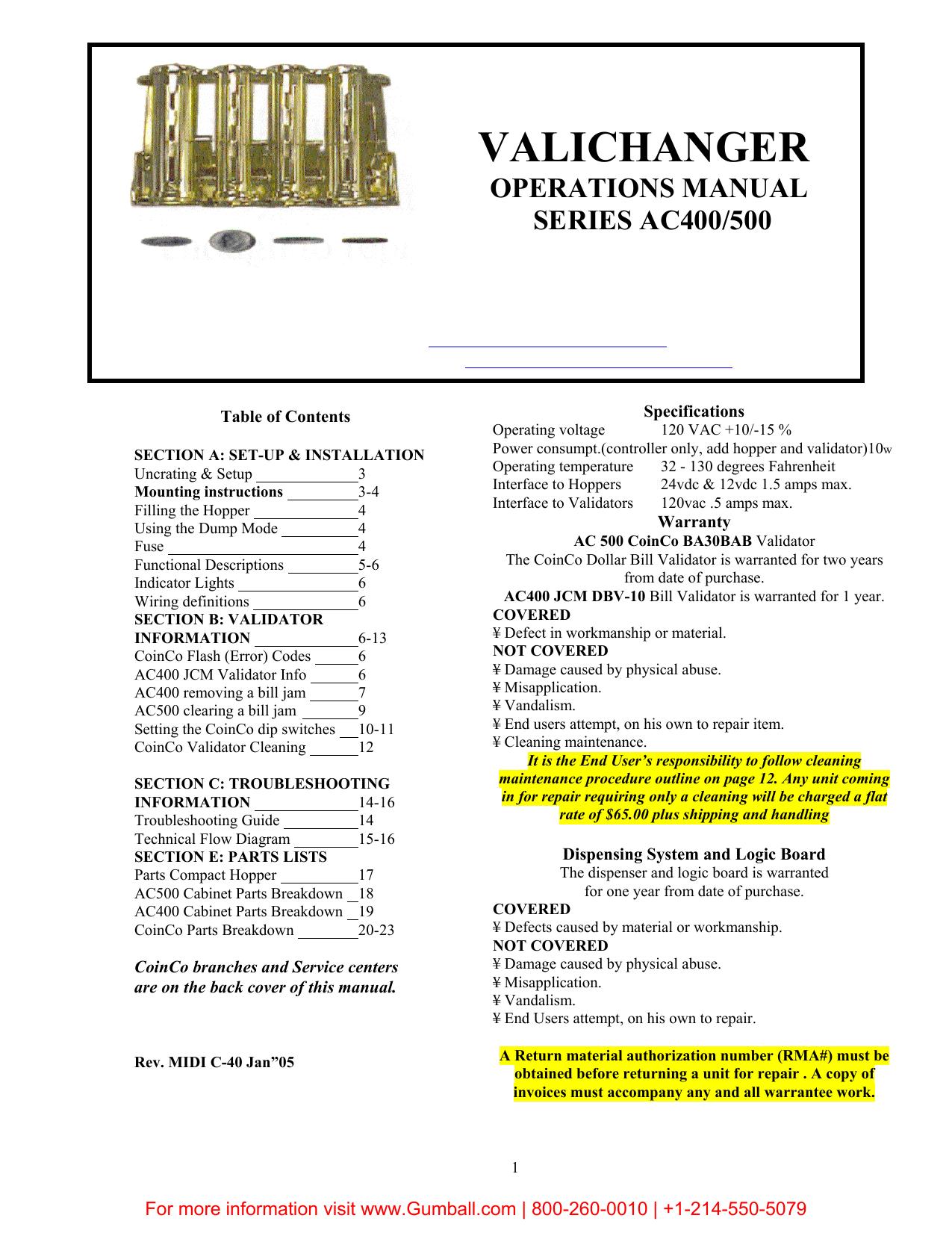 AC400 Instruction Manual | manualzz com