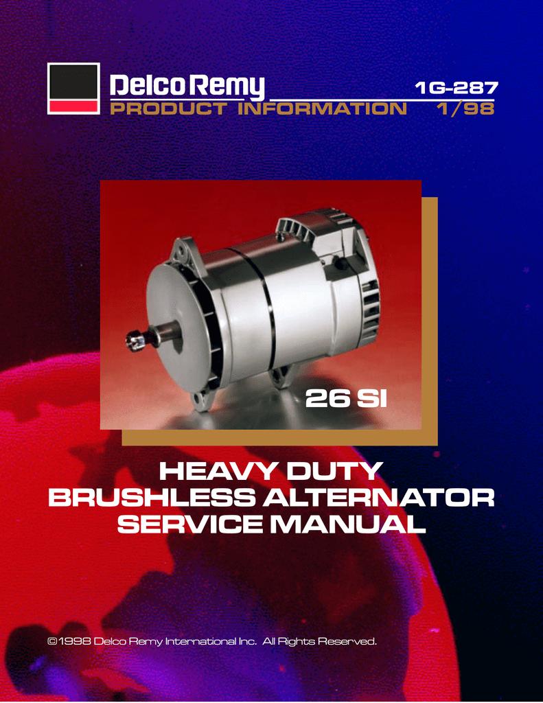acdelco 26 si user s manual manualzz com rh manualzz com Power Max Heavy Duty Alternator Heavy Duty Truck Batteries