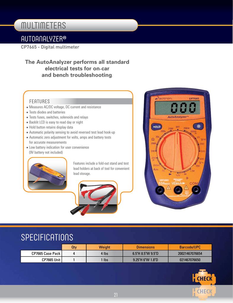 actron cp7665 product brochure manualzz com rh manualzz com