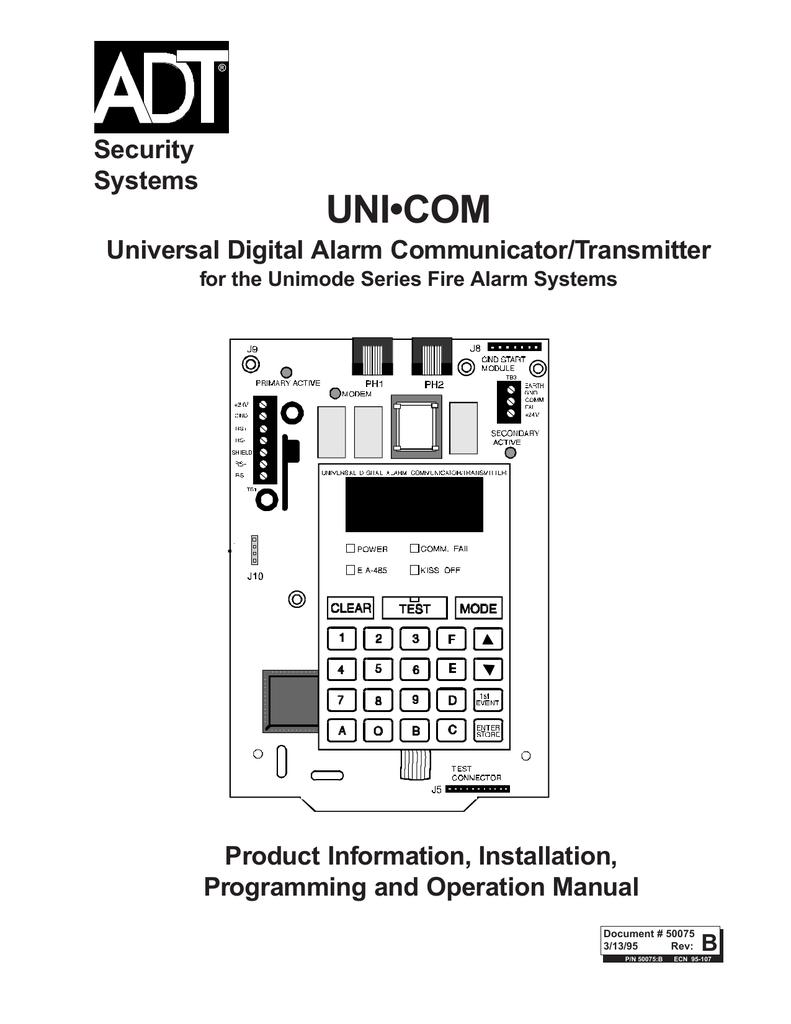 ADT Security Services Universal Digital Alarm Communicator
