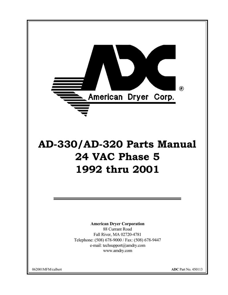 ADC Dryer  330//320  Nat Gas Valve Train Assembly