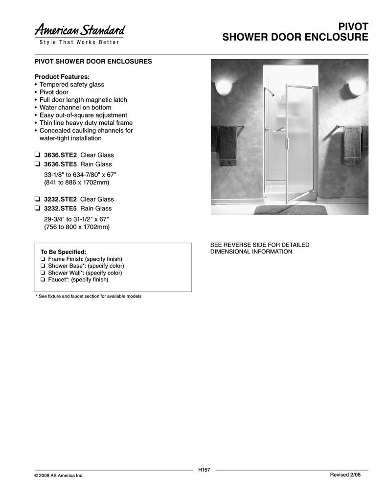 American Standard Pivot 3636 Ste2 User S Manual Manualzz Com