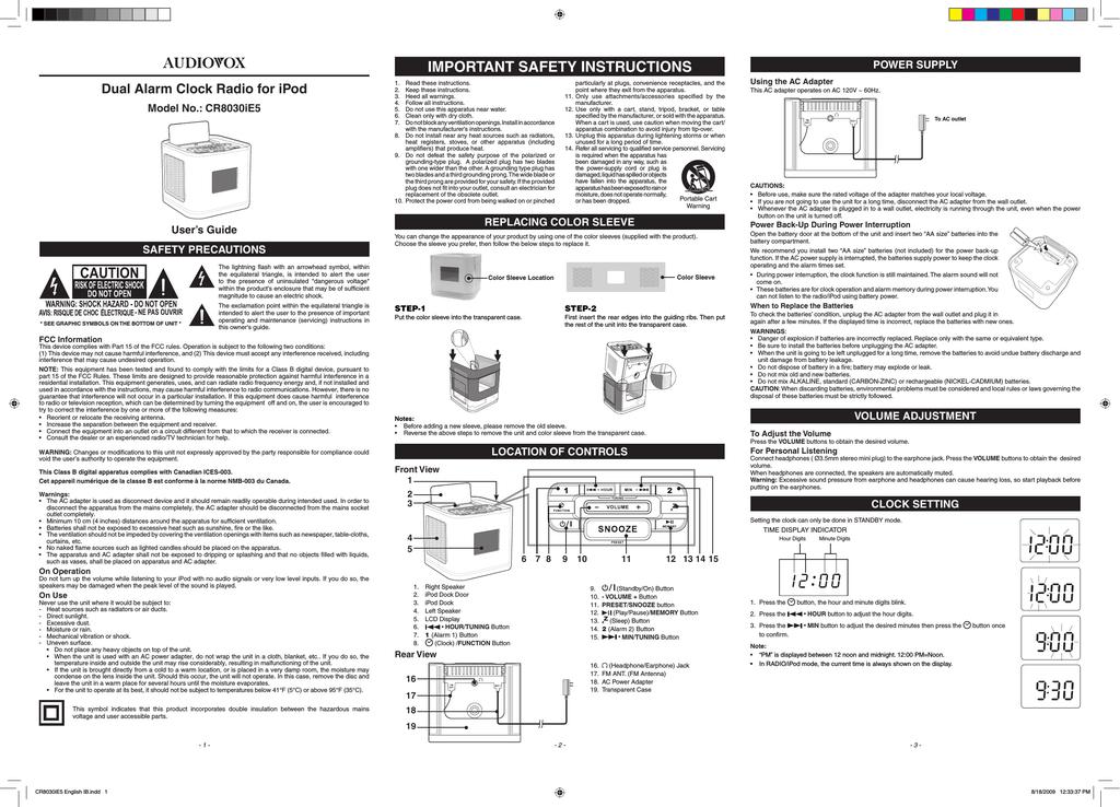 audiovox cr8030ie5 user s manual manualzz com rh manualzz com