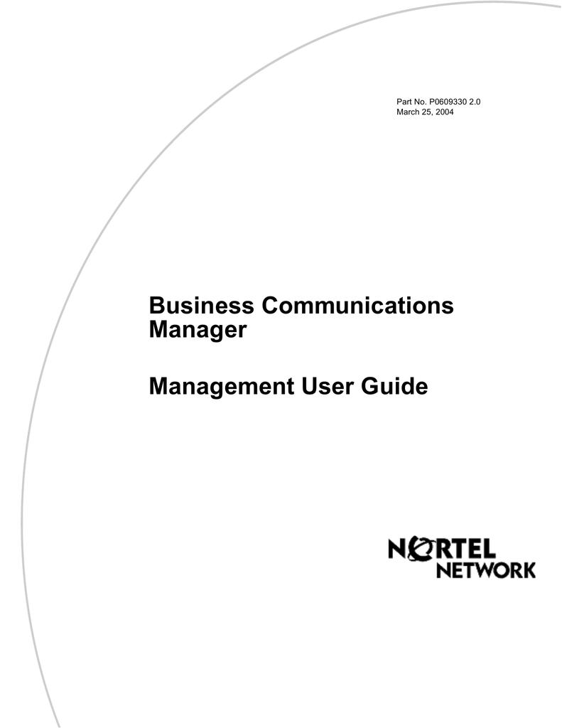 Avaya BCM Management User Guide | manualzz com