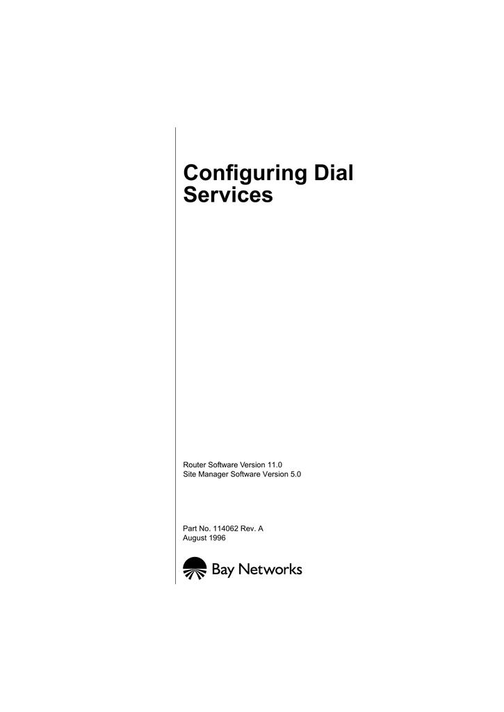 Avaya Configuring Dial Services User's Manual | manualzz com