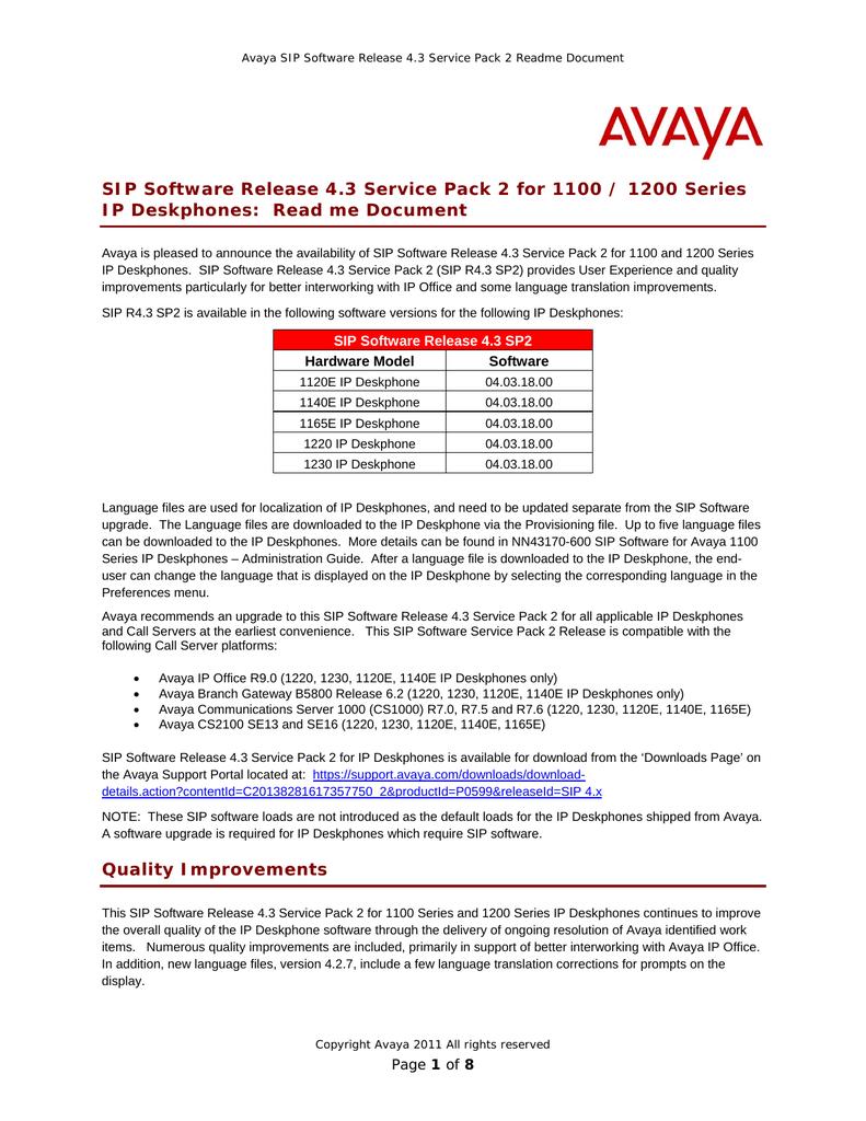 Avaya 11xx/12xx Notice | manualzz com