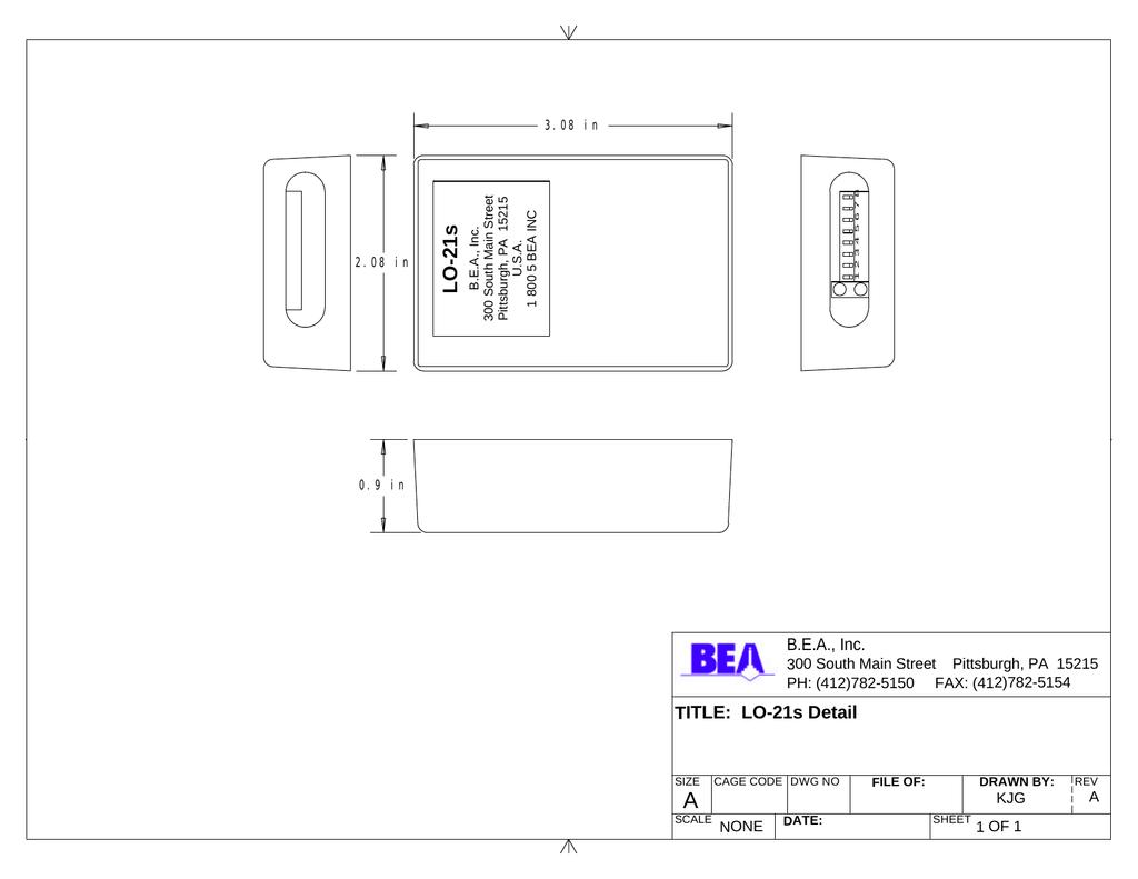 BEA LO-21s User's Manual | manualzz.com on