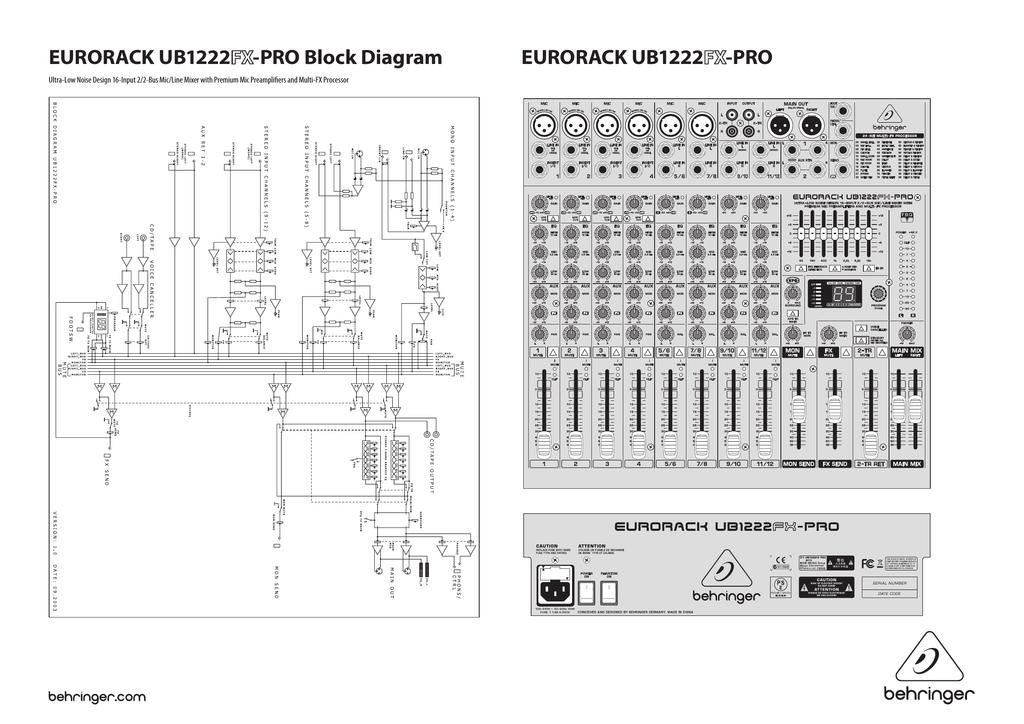 behringer europack ub1222fx pro user s manual manualzz com rh manualzz com Behringer 12 Eurorack behringer eurorack ub1222fx-pro user manual