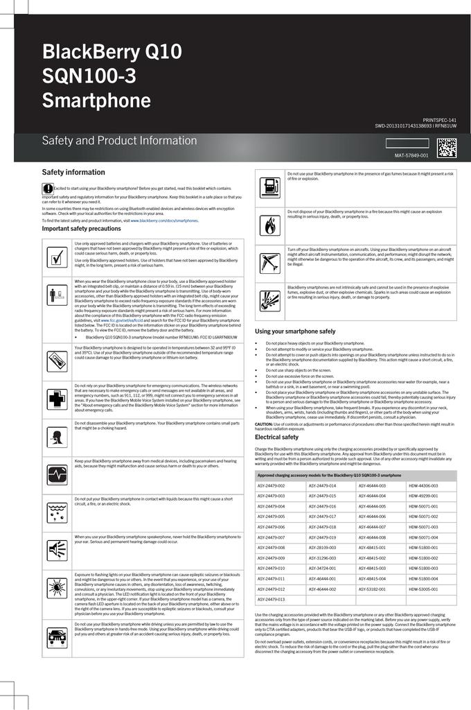 Blackberry sqn100-3 User's Manual | manualzz com