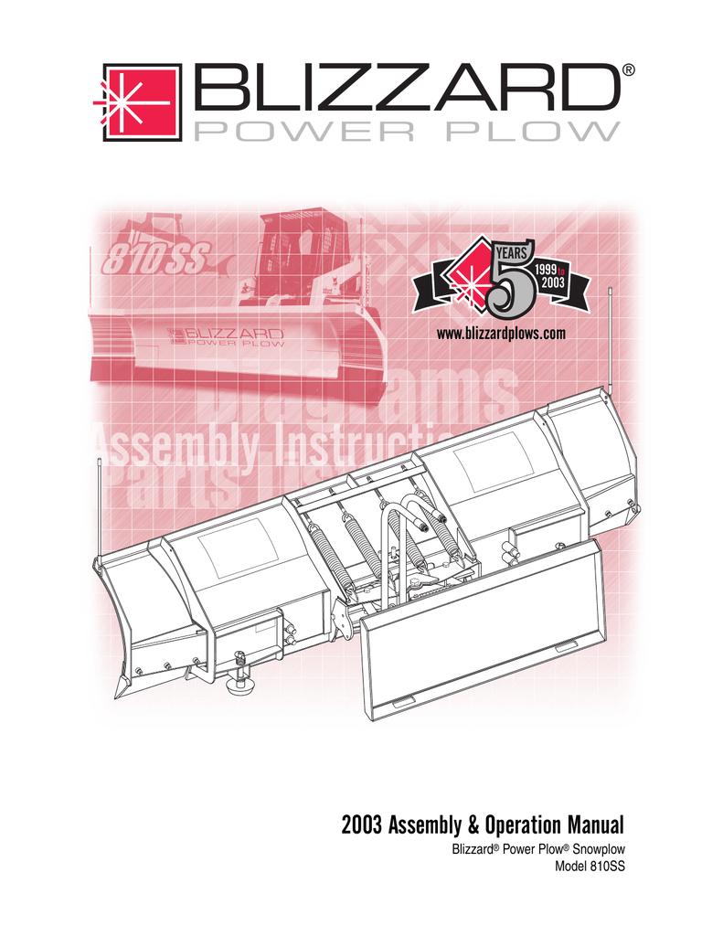 Blizzard Ski Automobile Accessories Power Plow User's. Blizzard Ski Automobile Accessories Power Plow User's Manual Manualzz. Wiring. Blizzard 1080 Plow Wiring Diagram At Scoala.co