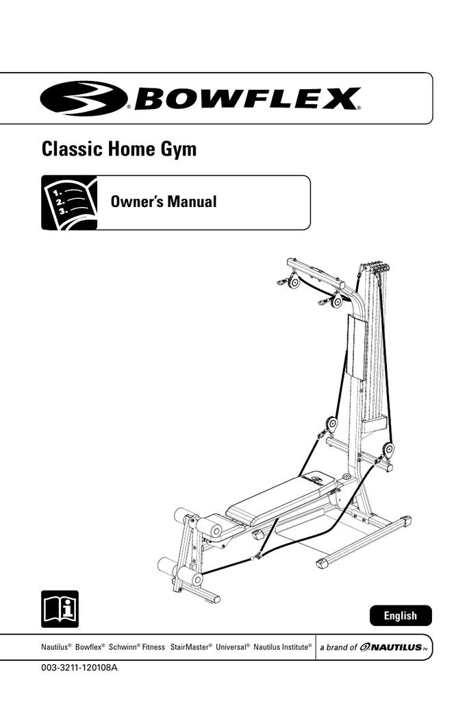 Total Gym 1700 remplacement câble avec poulies