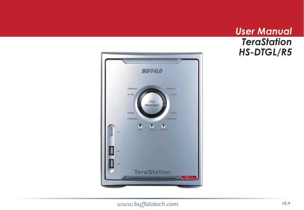 Buffalo Technology TeraStation HS-DTGL/R5 User's Manual