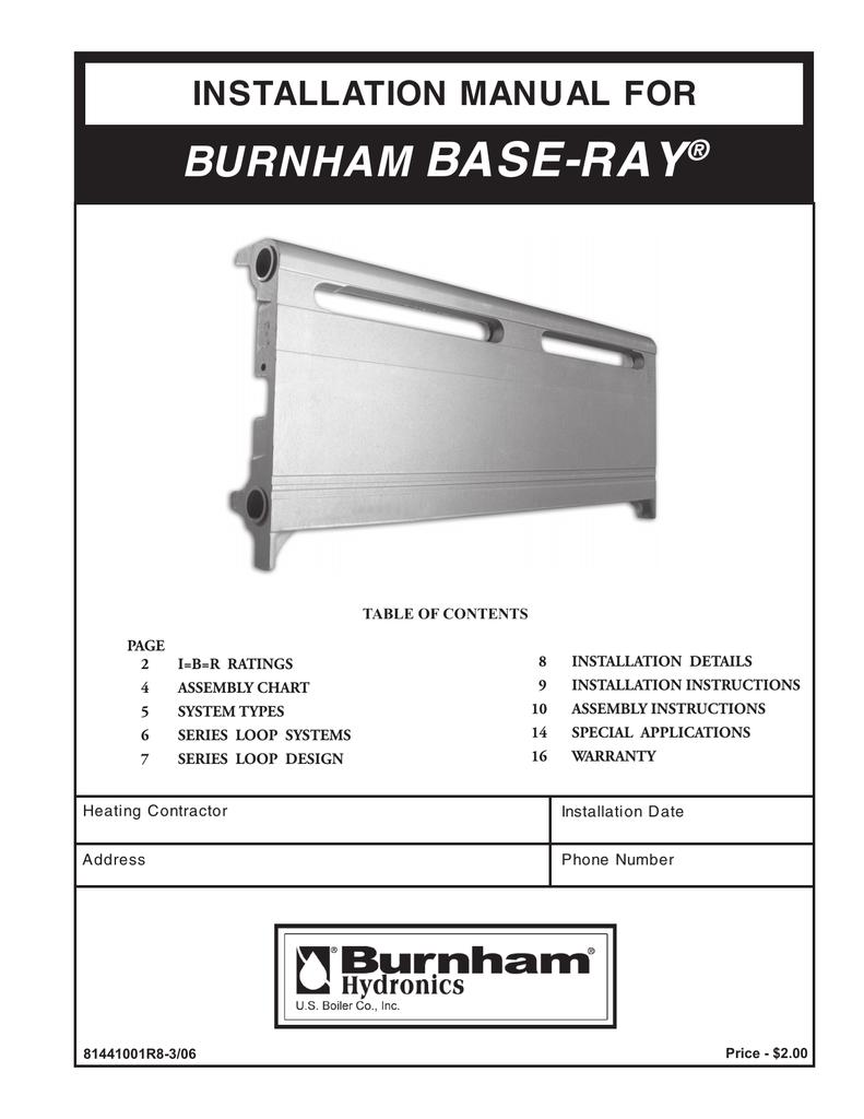 Burnham BASE-RAY 81441001R8-3/06 User's Manual   manualzz com