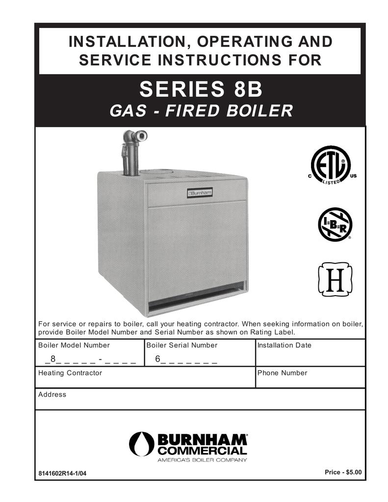 Burnham Series 8b Installation And Operation Manual Boiler Wiring Diagram