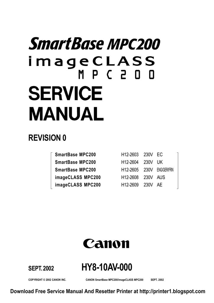 DRIVER UPDATE: CANON SMARTBASE MPC200