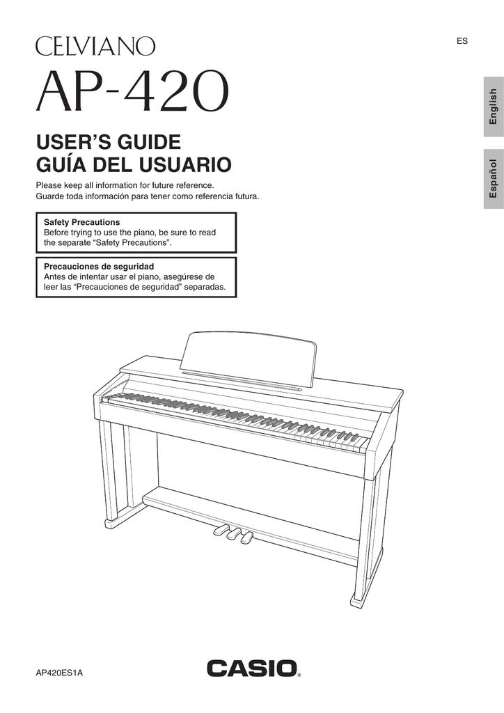 Casio CELVIANO AP-420 User's Manual | Manualzz