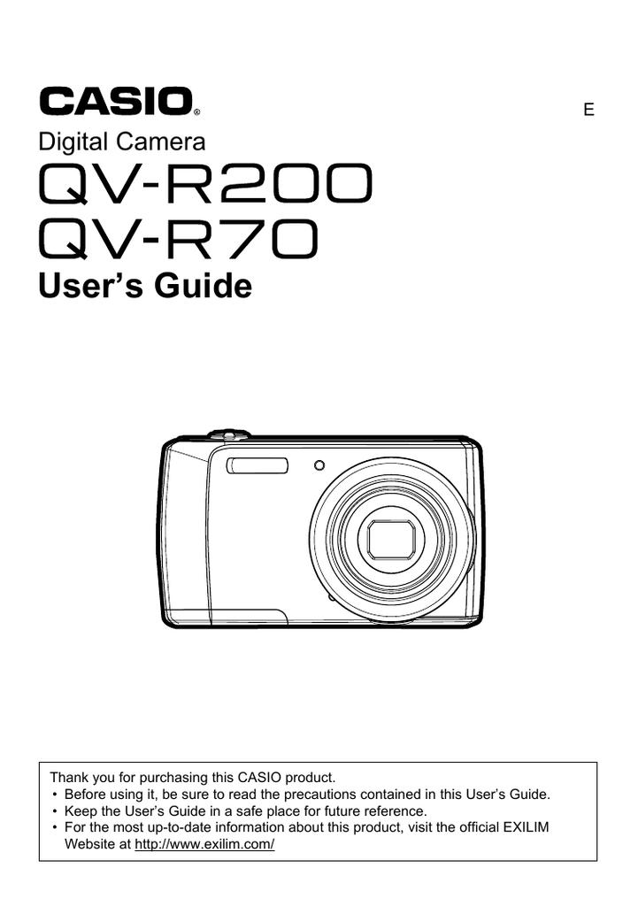 casio qv r200 manual
