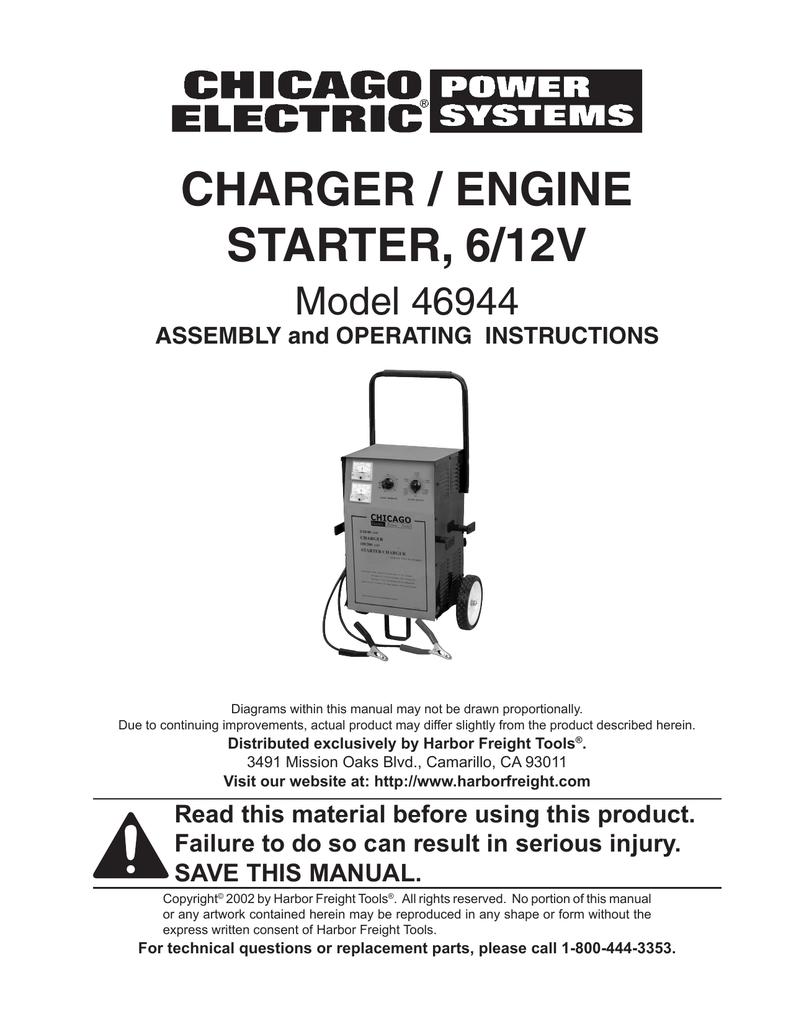 Chicago Electric 46944 User's Manual | Manualzzmanualzz