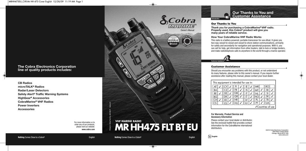 MR HH330 Float Marine VHF Radio Charging Cradle/Desktop Charger ...