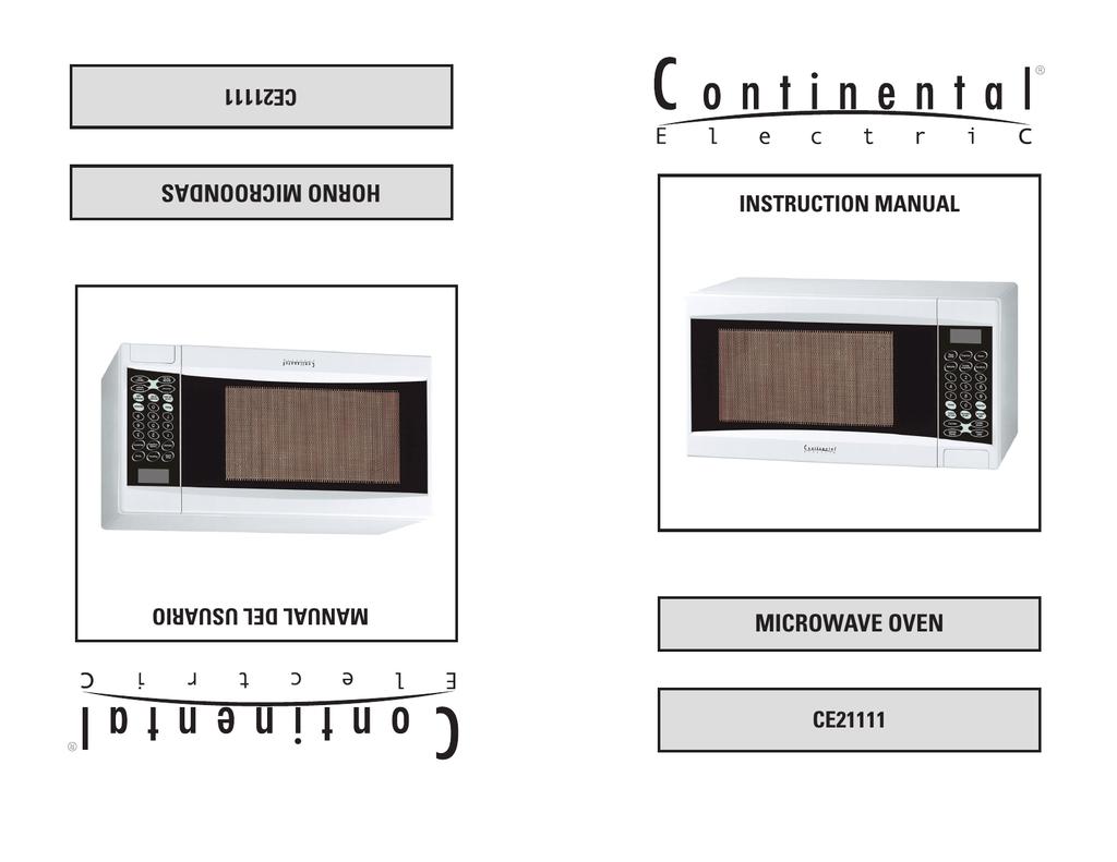 Continental Electric CE21111 User\'s Manual | manualzz.com