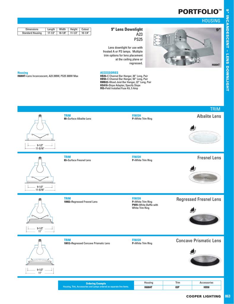 Cooper Lighting Portfolio H6004t User S Manual Manualzz