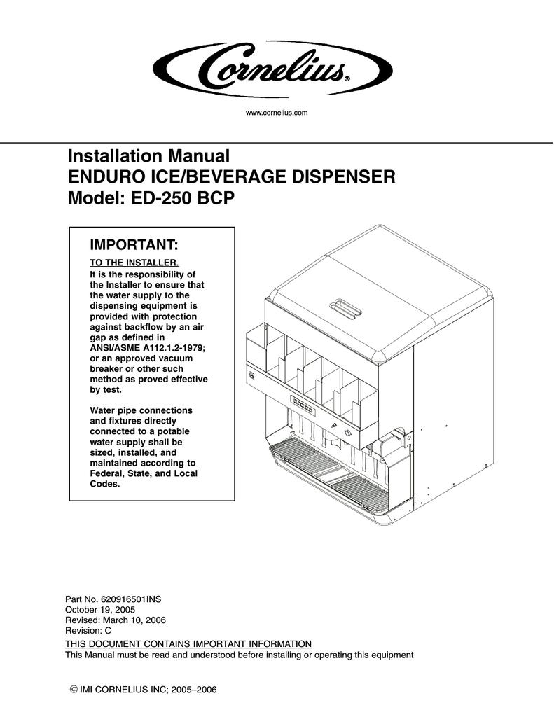 Cornelius ED-250 User's Manual   manualzz.com on
