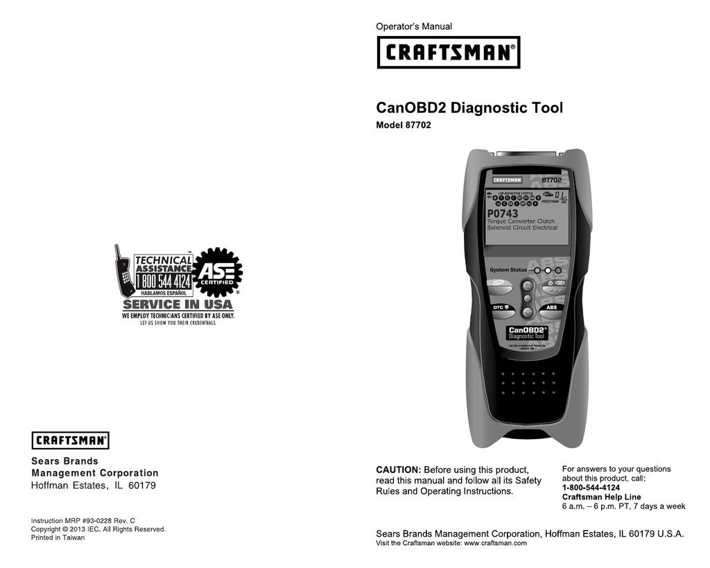 craftsman 20899 user manual