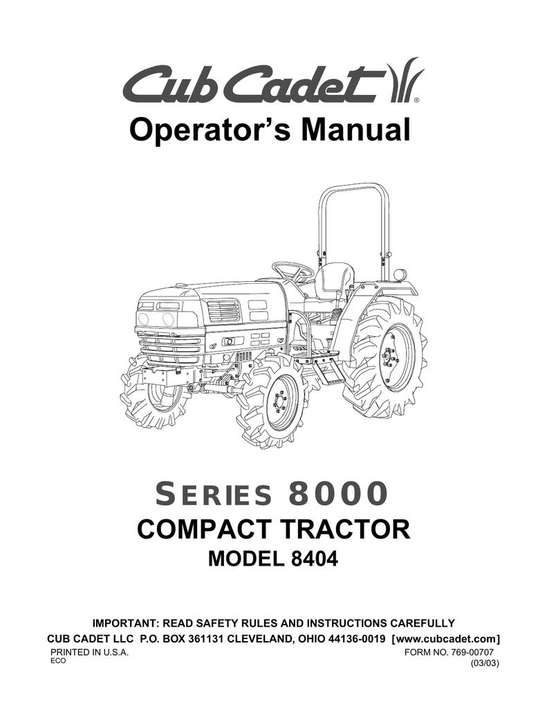 Cub Cadet 8404 Operator's Manual | manualzz com