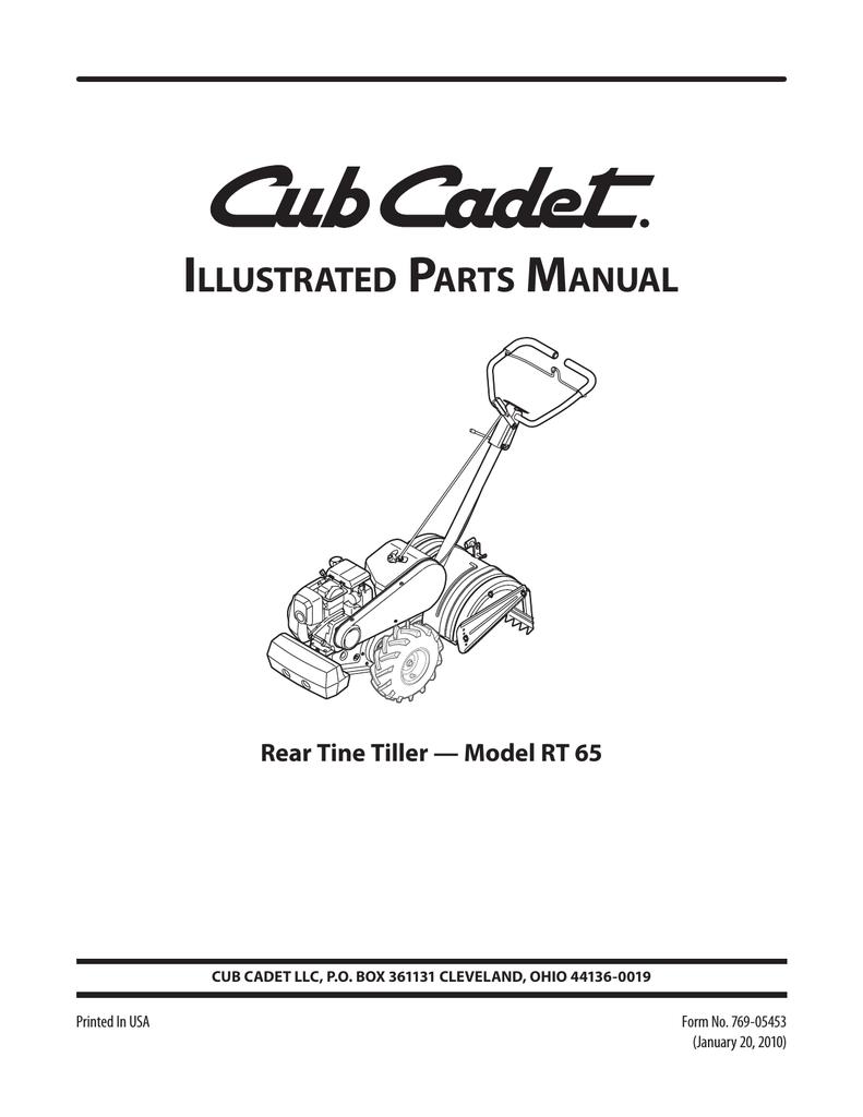 Cub Cadet RT 65 User's Manual | manualzz com
