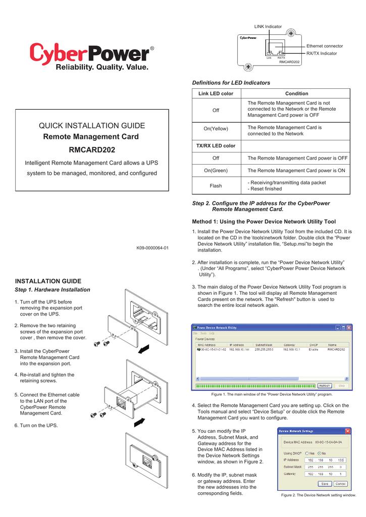 CyberPower RMCARD202 User's Manual   manualzz com