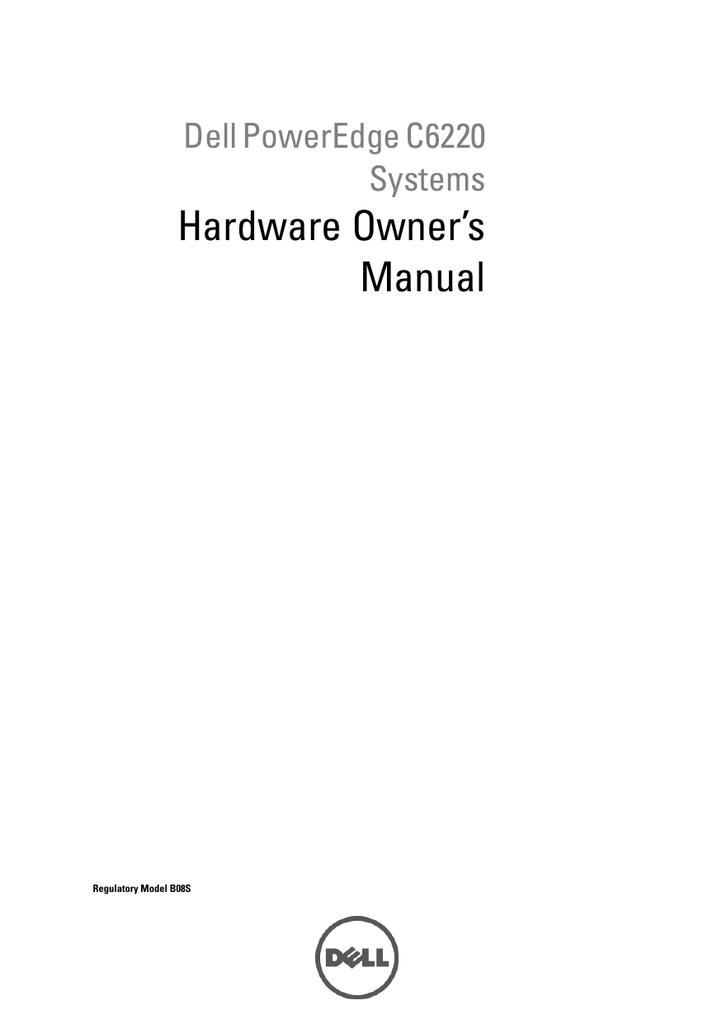 Dell PowerEdge C6220 Hardware Owner's Manual   manualzz com