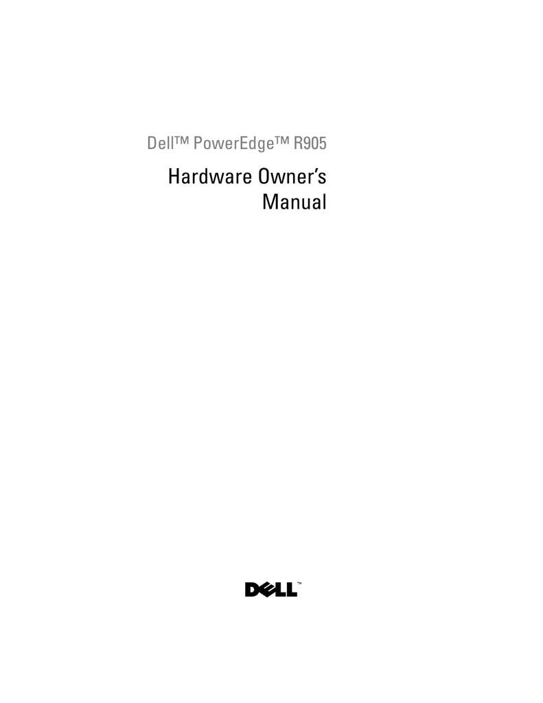 Dell PowerEdge R905 Owner's Manual   manualzz com