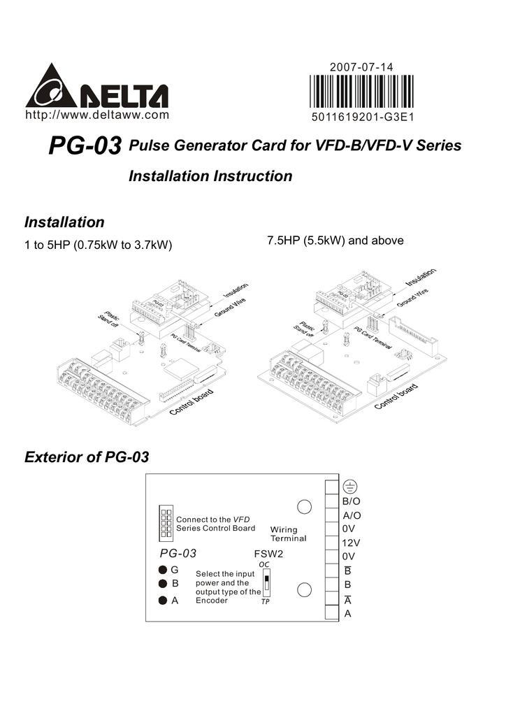 Delta Electronics Pg 03 User S Manual Manualzz